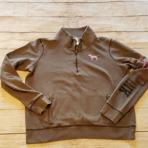 VS PINK Large Grey Pullover Sweatshirt  *DEFECT*